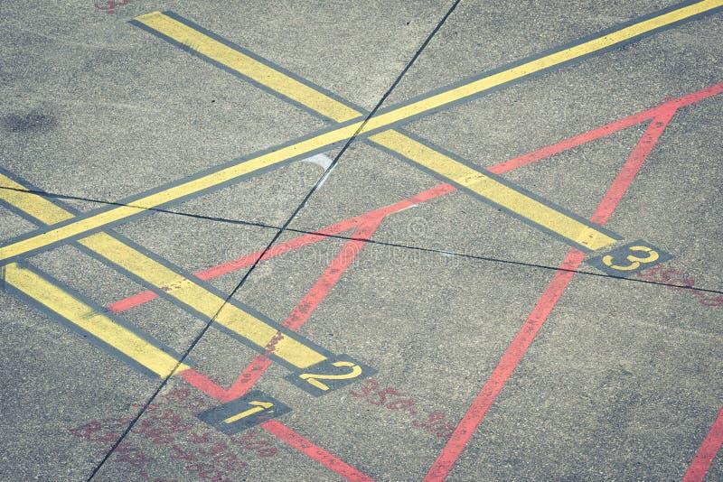 Marcas del aeropuerto foto de archivo
