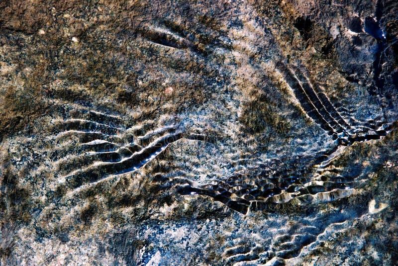 Marcas e textura abstratas fotografia de stock royalty free