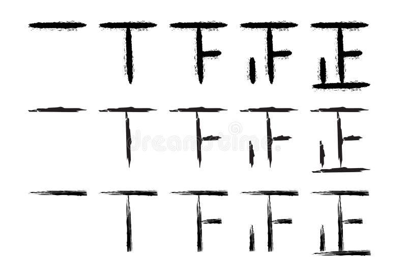Marcas exhaustas de la cuenta de la mano stock de ilustración