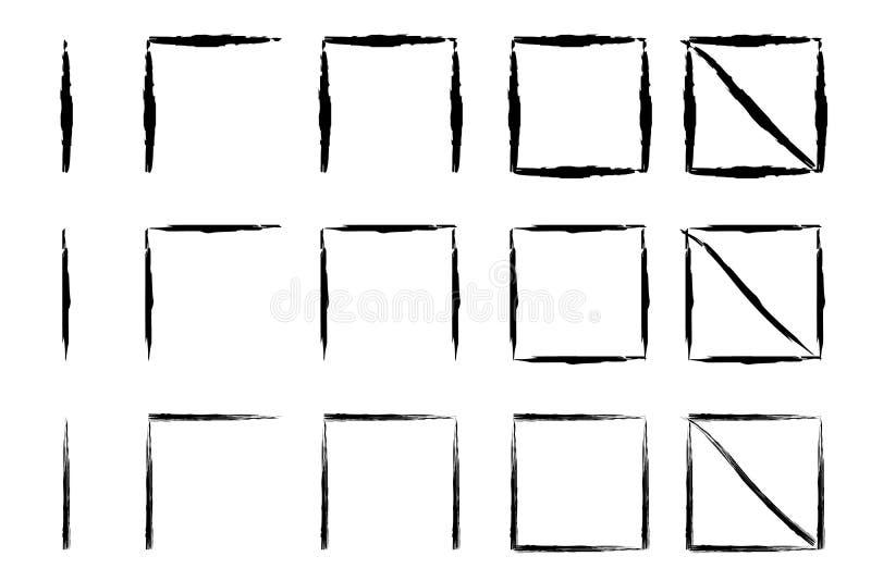 Marcas exhaustas de la cuenta de la mano ilustración del vector