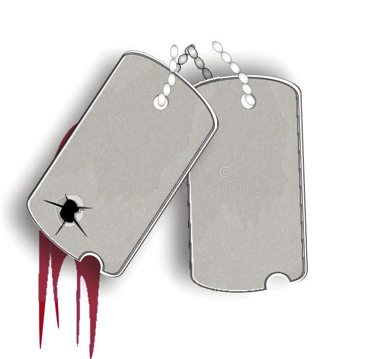 Marcas militares ilustración del vector