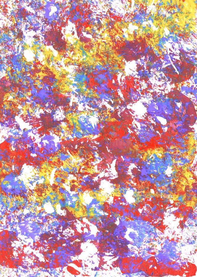 Marcas texturizadas extracto multicolor de la pintura foto de archivo libre de regalías
