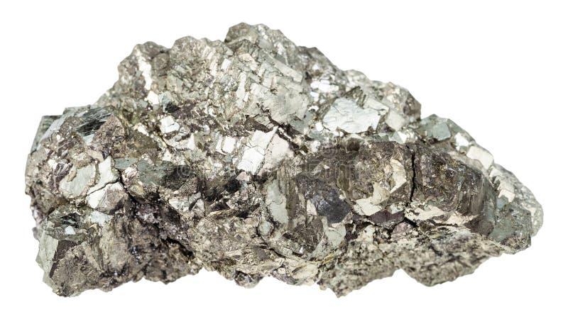 marcasite白色白铁矿水晶被隔绝的 免版税库存照片