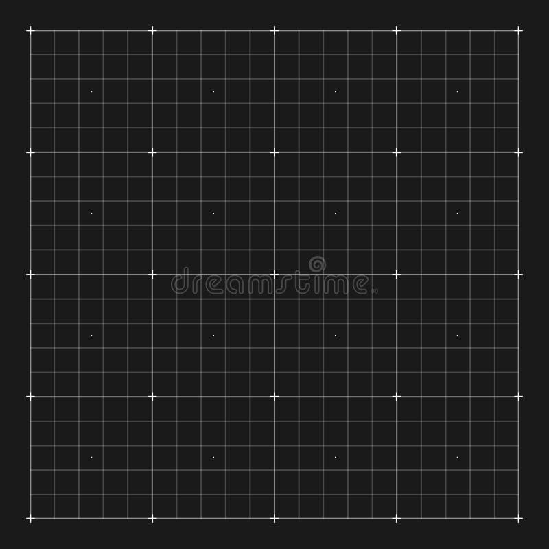Marcatura di griglia di vettore per l'interfaccia di HUD dell'utente illustrazione di stock
