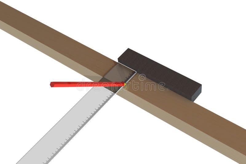 marcatura di legno della barra 3D fotografie stock