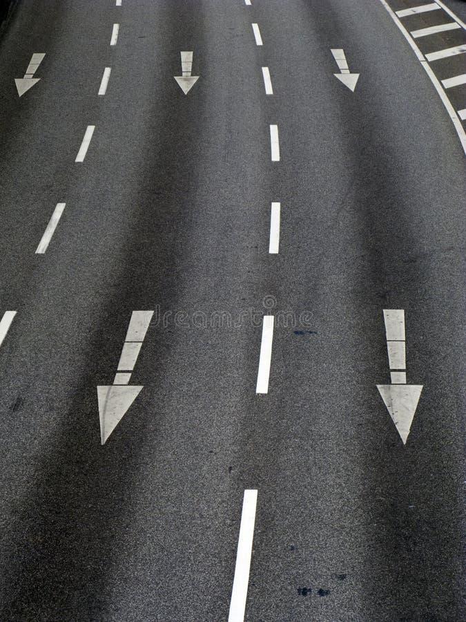 Marcatura di strada a Amburgo immagine stock