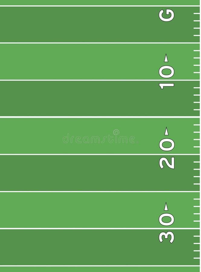Marcature del campo di football americano illustrazione vettoriale