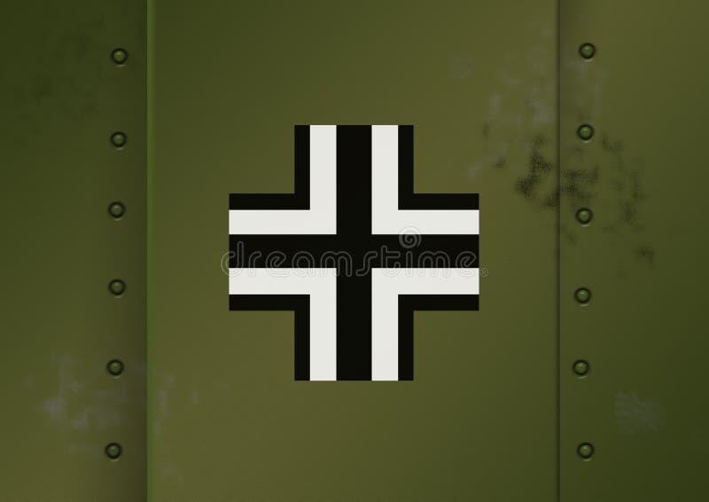 Marcature tedesche WWII illustrazione di stock