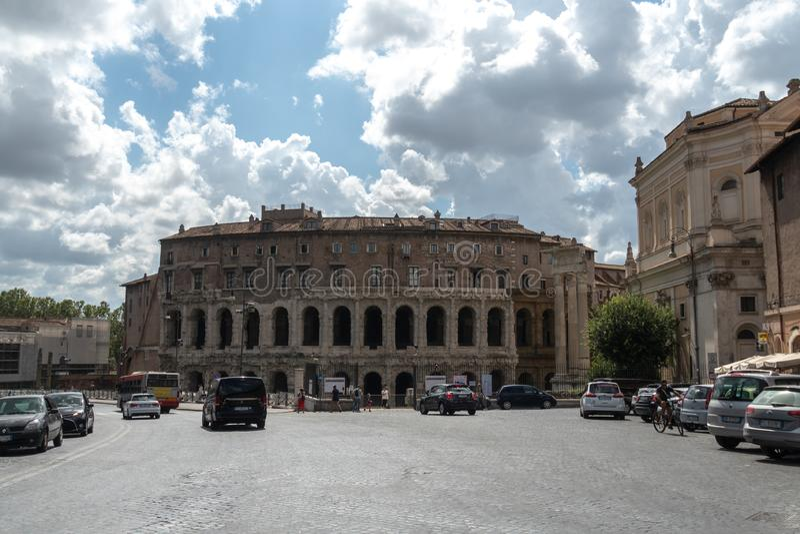 Marcello Theater, Rome, Italie photographie stock libre de droits