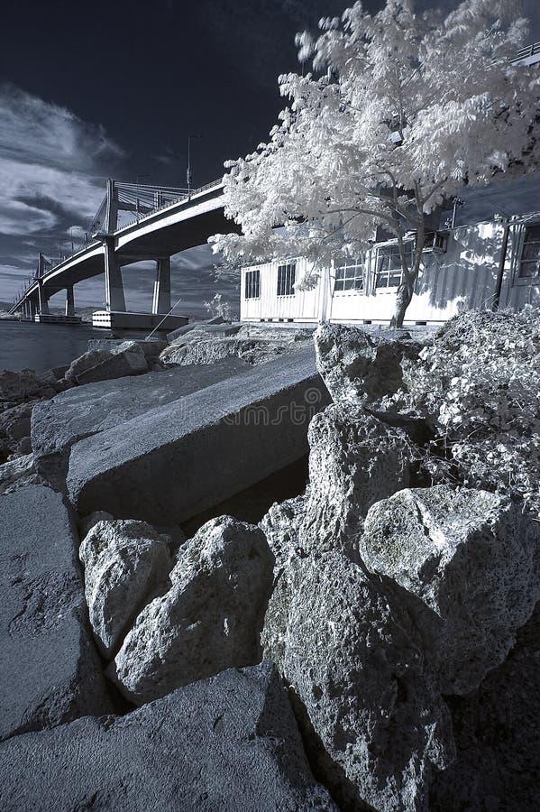 Marcelo Bridge in IR stock images