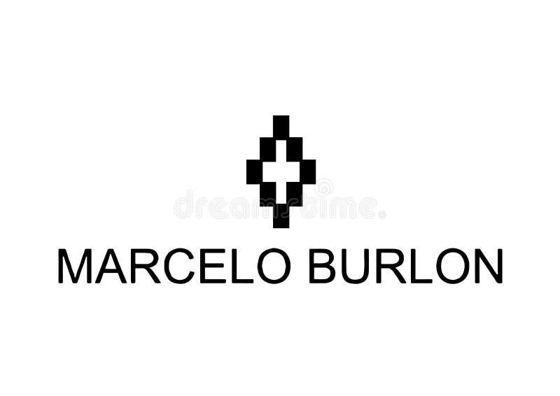 Marcelo Burlon Logo fotografía de archivo libre de regalías