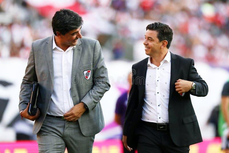 Marcelo Gallardo и Matias Бискайя стоковые фото