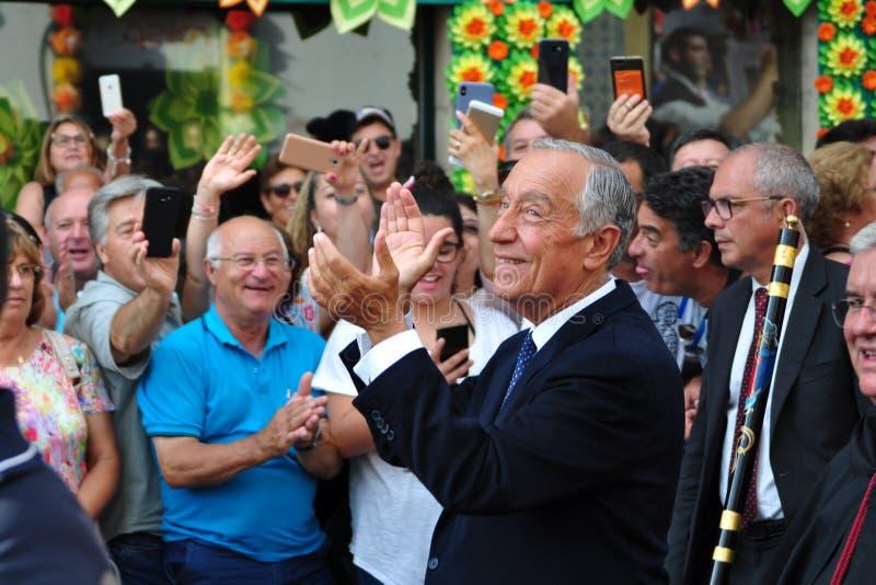 Marcelo Rebelo De Sousa przy taca festiwalem obraz stock