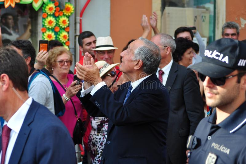 Marcelo Rebelo De Sousa przy taca festiwalem fotografia stock