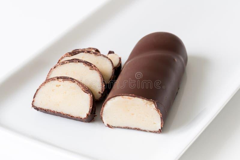 Marcepanowa czekolada zdjęcie stock