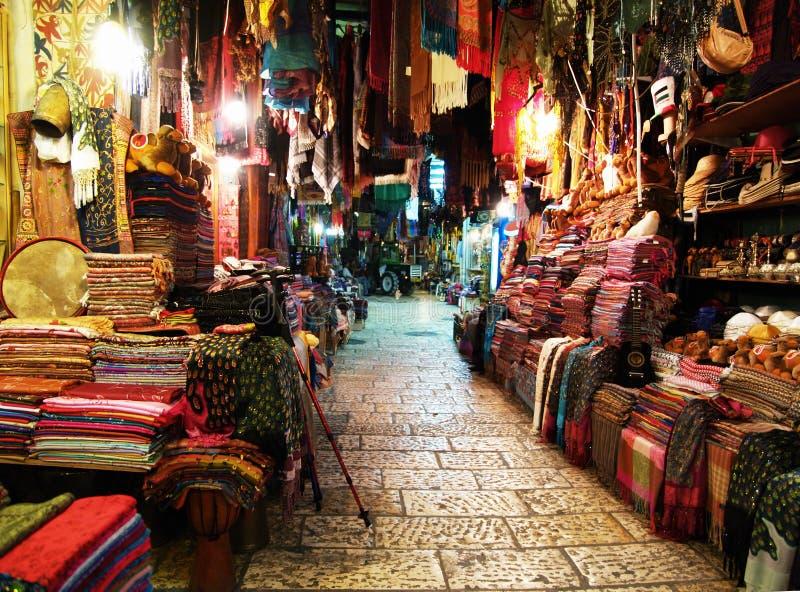 Marché à Jérusalem image libre de droits
