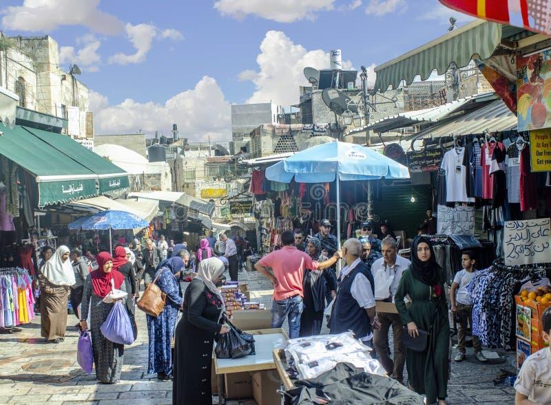 Marché à l'intérieur de porte Jérusalem, Israël de Damas photo stock