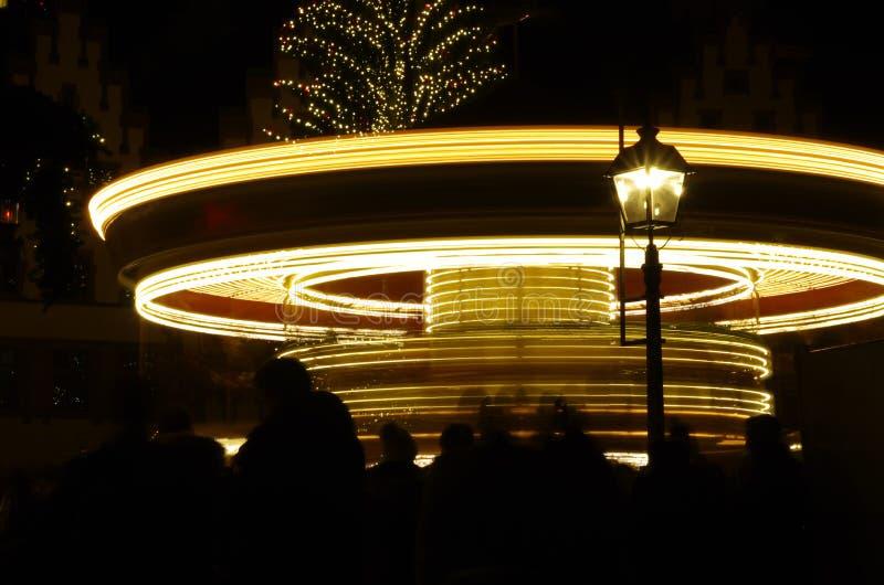 Marché allemand de Noël à Francfort sur Main, Allemagne photos libres de droits