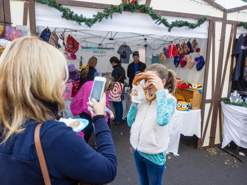 Marché allemand de Noël photographie stock libre de droits