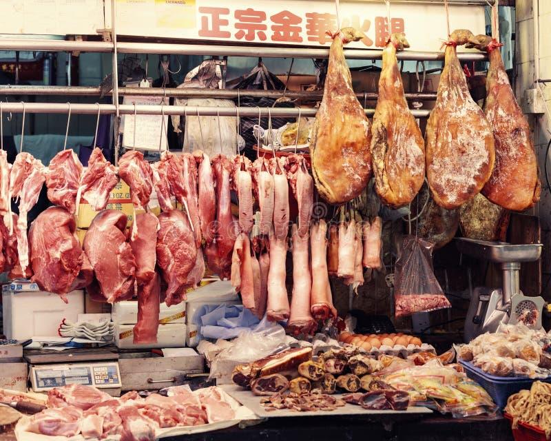 Marché asiatique traditionnel images stock