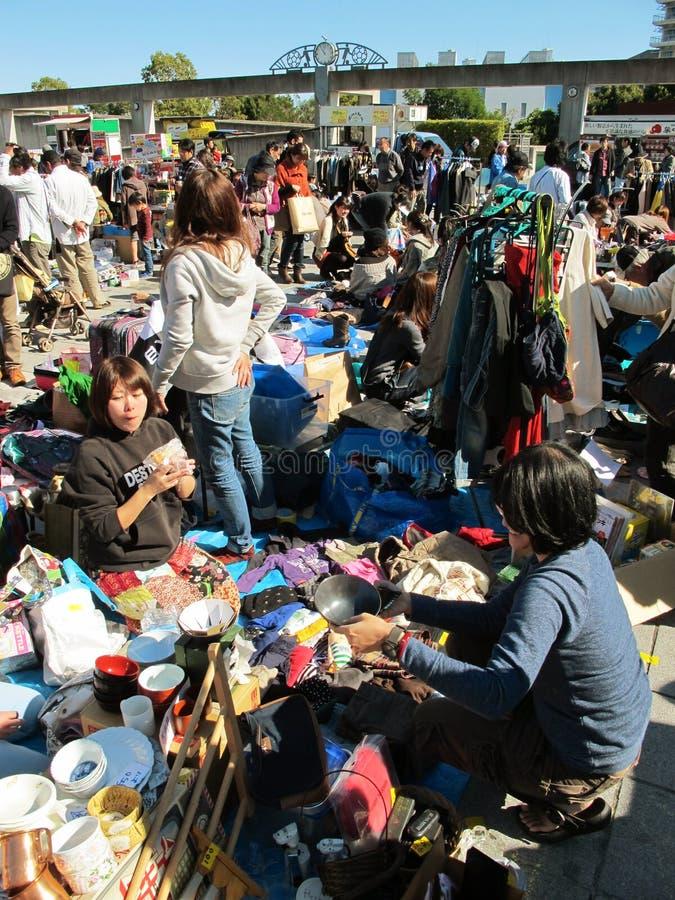 Marché aux puces à Shin-Yokohama Japon photos libres de droits
