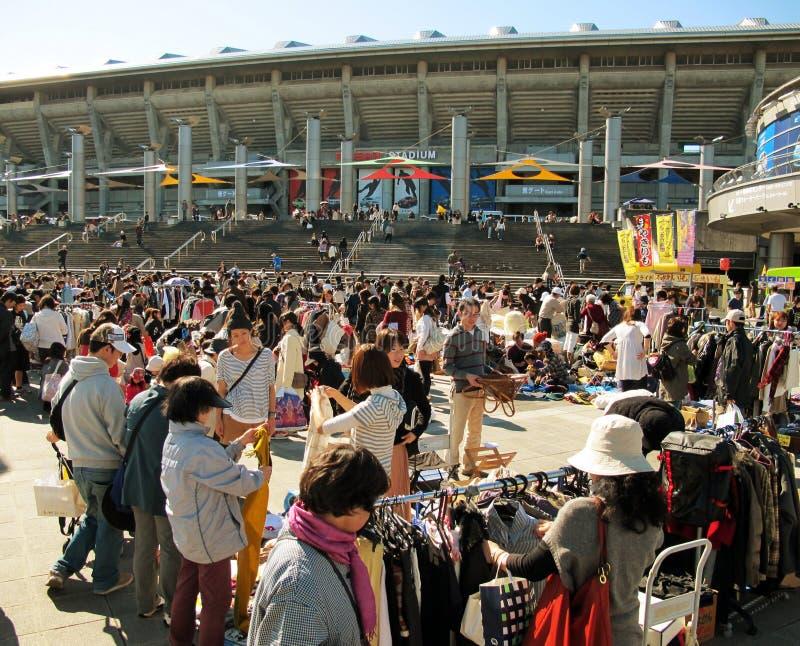 Marché aux puces à Shin-Yokohama Japon images stock