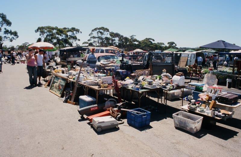 Marché aux puces dans l'Australie du sud photos libres de droits