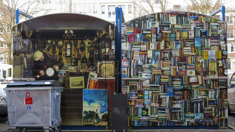 Marché aux puces sur Amsterdam, Pays-Bas images libres de droits