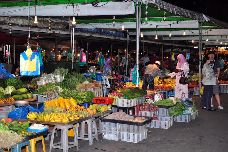 Marché bon marché dans Bandar Seri Begawan, Brunei. images stock