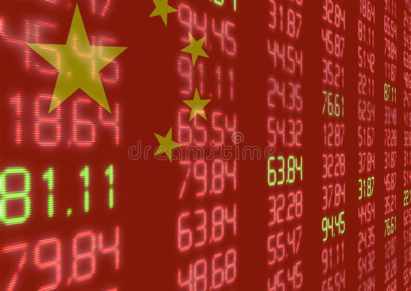 Marché boursier chinois vers le bas illustration libre de droits