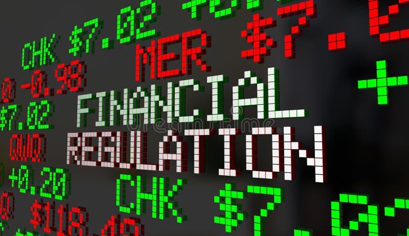 Marché boursier 3 de supervision de contrôle du gouvernement de règlement financier illustration de vecteur