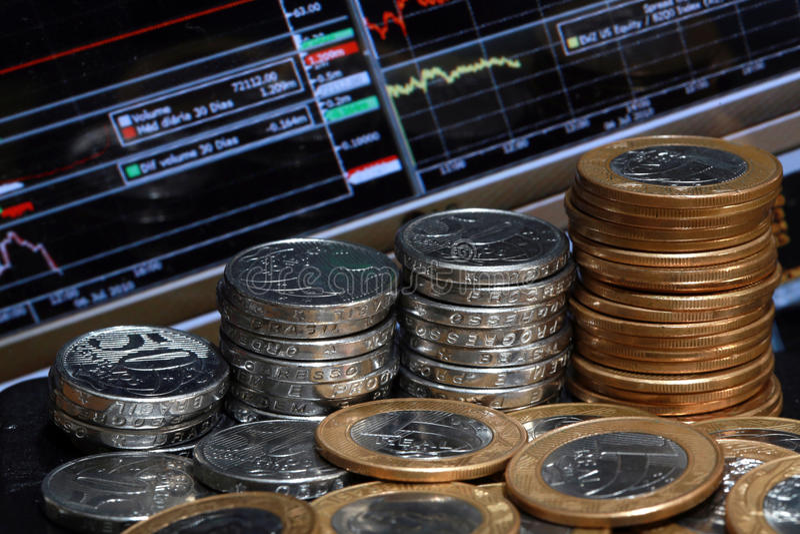 Marché boursier et argent photographie stock
