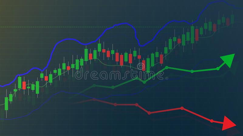 Marché boursier ou graphique et diagramme marchand de forex, marché et financier illustration de vecteur
