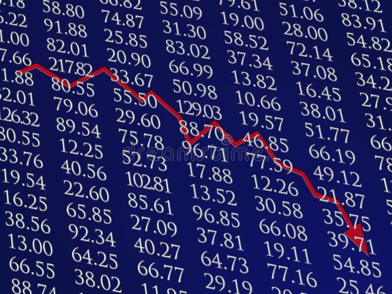 Download Marché Boursier Vers Le Bas Illustration Stock - Illustration du spirale, financier: 8651452