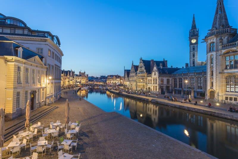 Download Marché Central De Gand, Belgique Image stock - Image du maison, nuit: 45369559