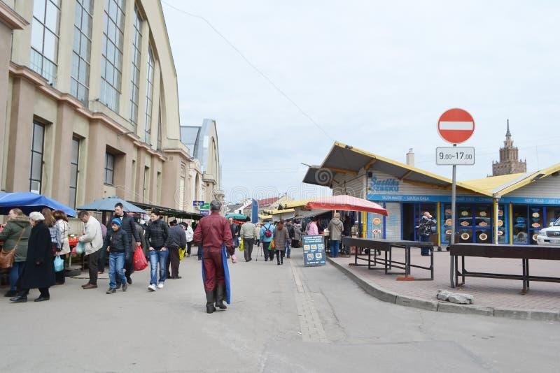 Marché central de Riga photographie stock