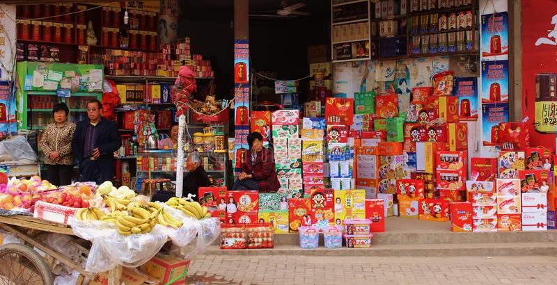Marché chinois photos stock