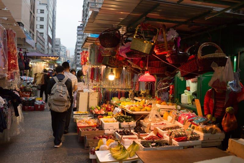 Marché chinois dans Kowloon, Hong Kong image libre de droits