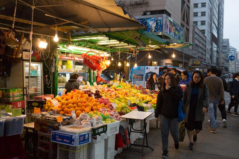 Marché chinois dans Kowloon, Hong Kong photographie stock