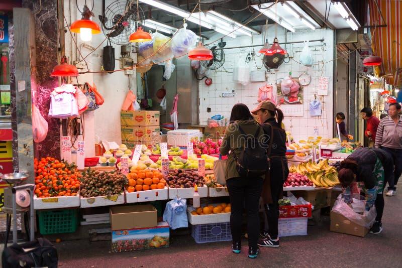 Marché chinois dans Kowloon, Hong Kong photo stock