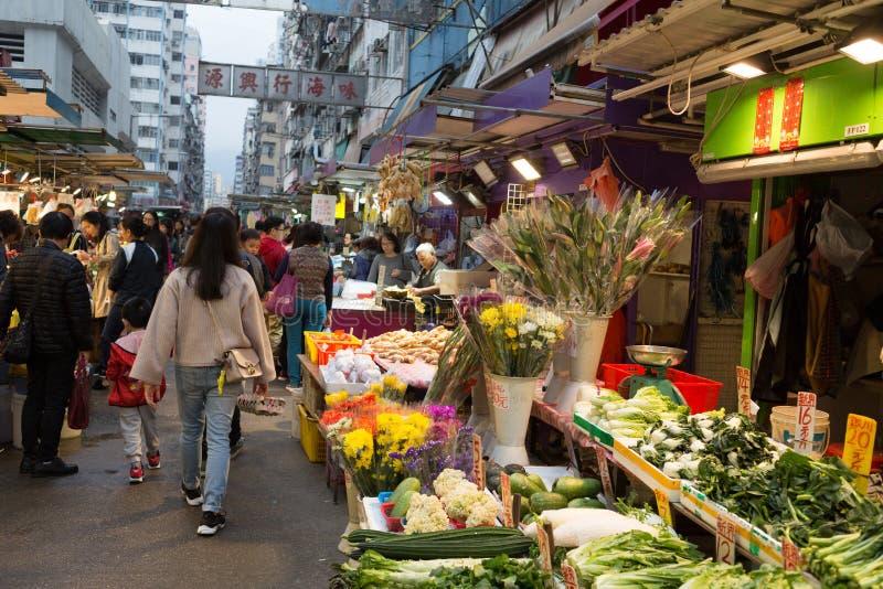 Marché chinois dans Kowloon, Hong Kong images stock