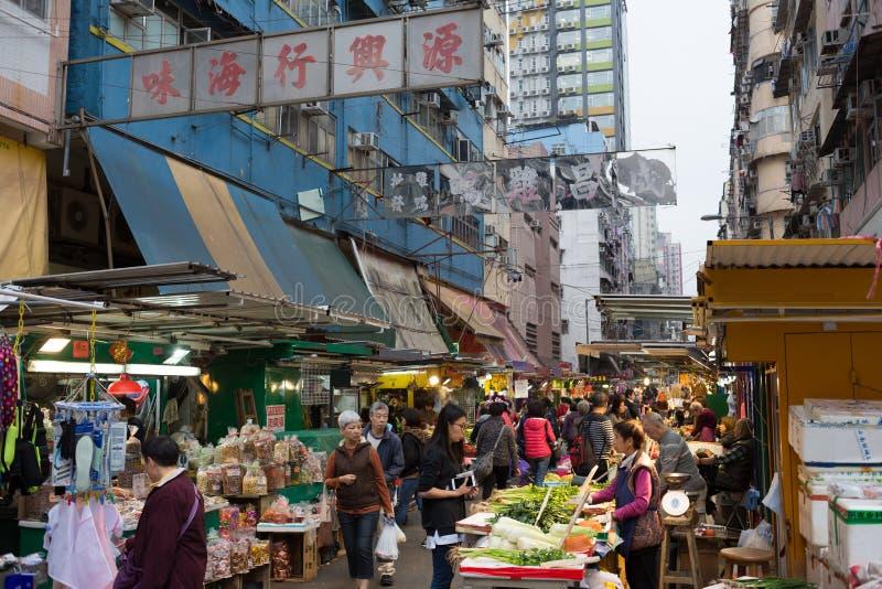 Marché chinois dans Kowloon, Hong Kong photographie stock libre de droits