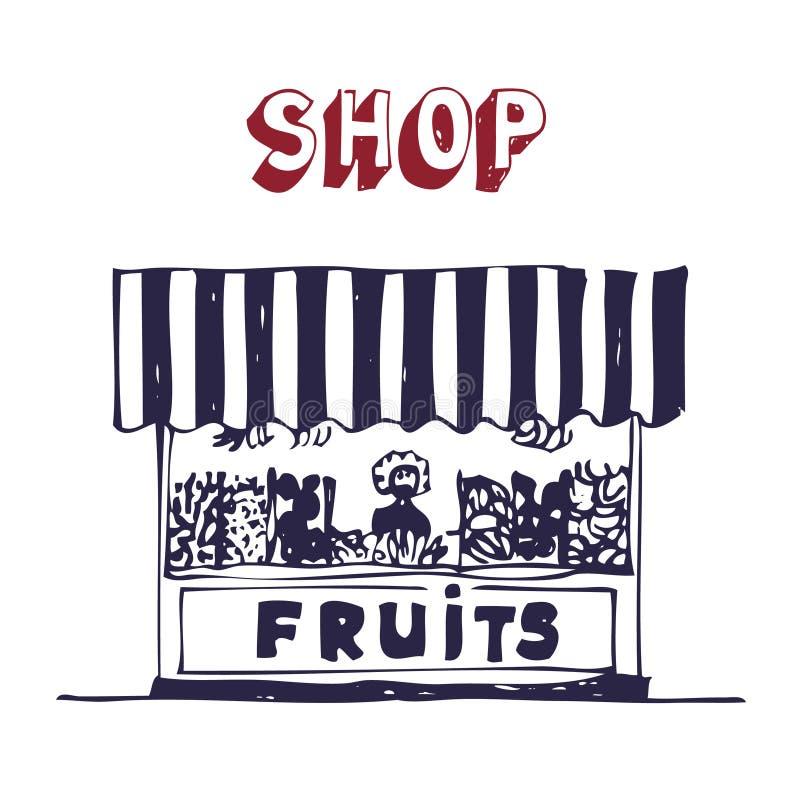 Marché commercial. illustration libre de droits