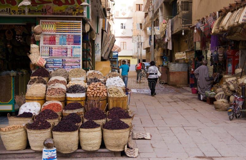 Marché d'Aswan de l'Egypte photos libres de droits