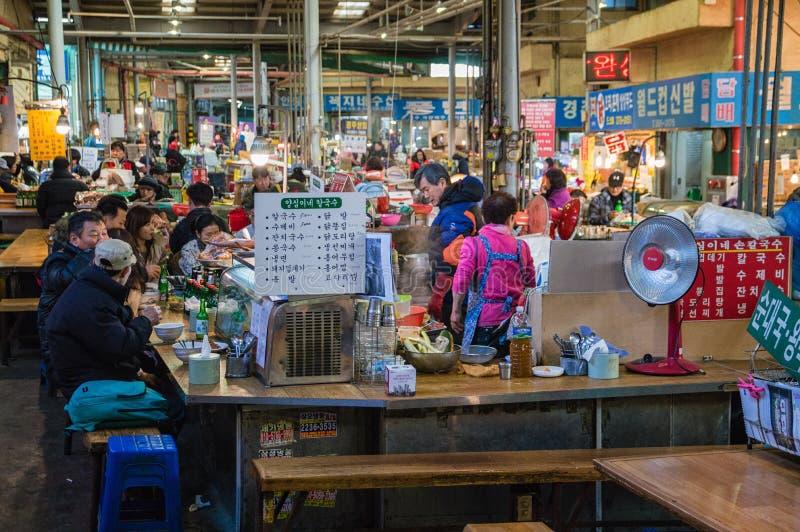 Marché d'intérieur, Séoul, Corée photos stock