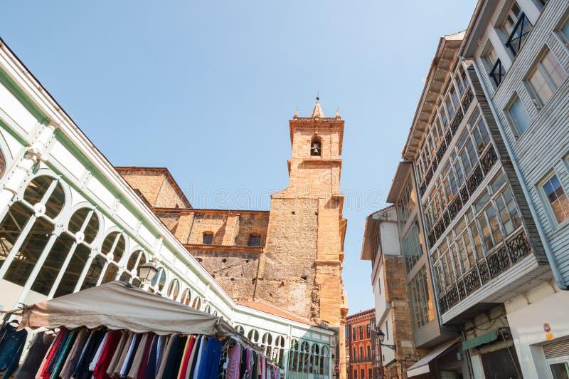 Marché d'Oviedo Fontan photographie stock libre de droits