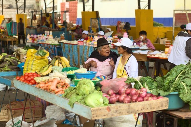 Marché dans Banos, Equateur photos stock