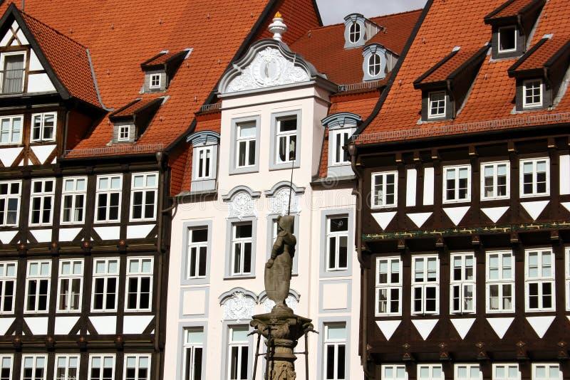 Marché dans la belle ville allemande Hildeshe photo stock