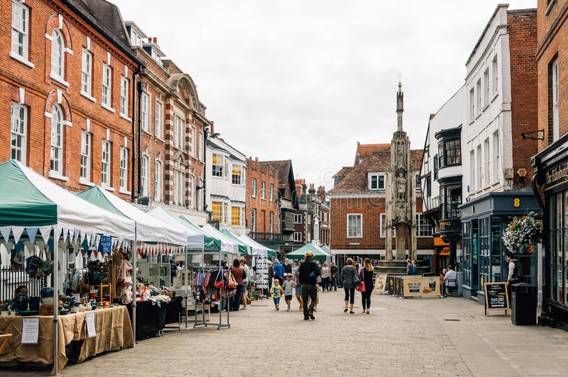 Marché dans Winchester photos libres de droits