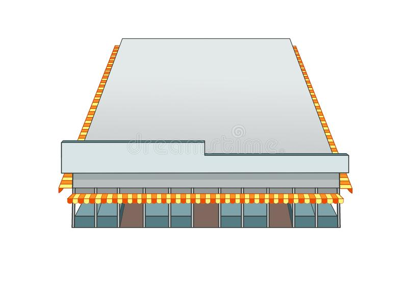 Marché de bâtiment de conception et couleur de gris illustration stock